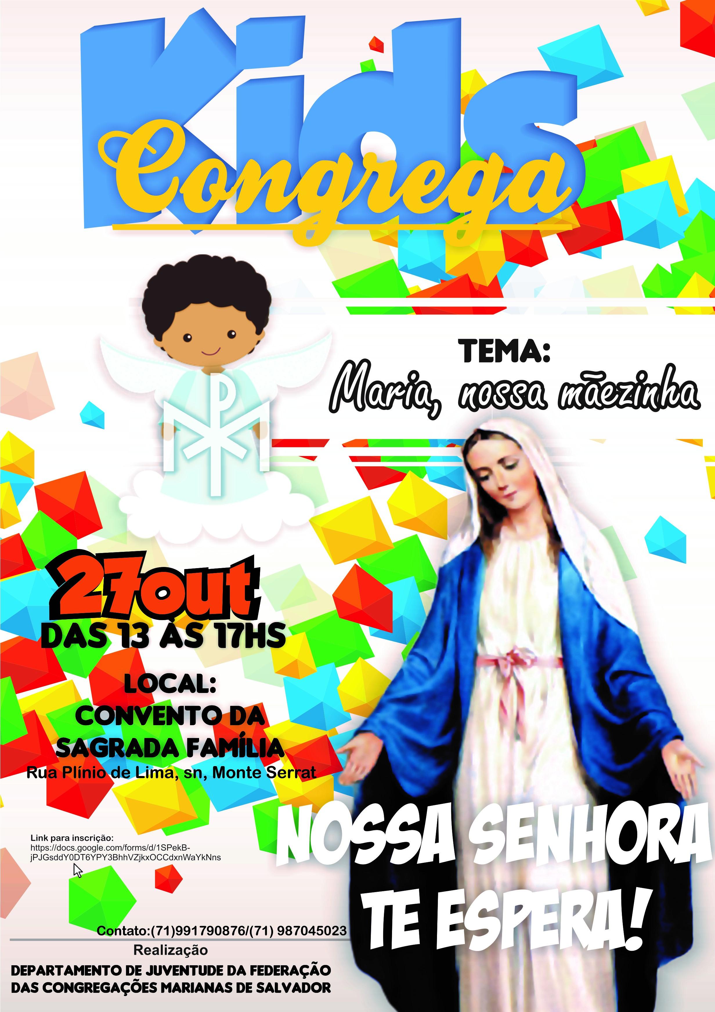 FEDERAÇÃO DAS CONGREGAÇÕES MARIANAS DE SALVADOR REALIZA ENCONTRO PARA AS CRIANÇAS