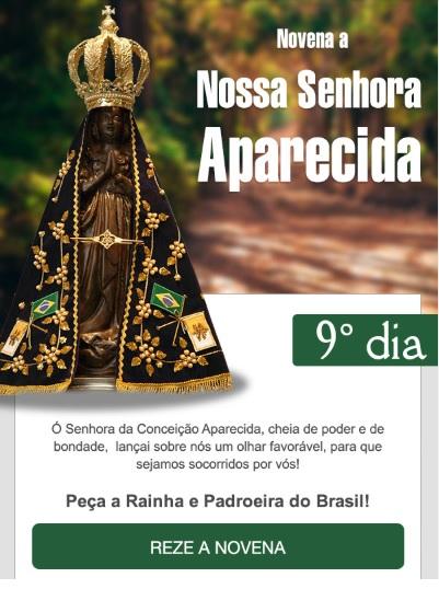 NOVENA A MÃE APARECIDA: SANTA MARIA, LIVRAI-NOS DE TODO MAL!