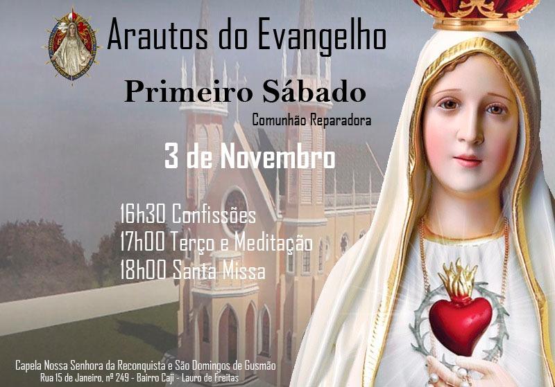 CONVITE: COMUNHÃO REPARADORA DO PRIMEIRO SÁBADO DE NOVEMBRO