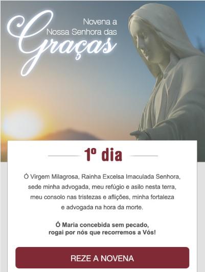 NOVENA A NOSSA SENHORA DAS GRAÇAS. REZE CONOSCO!