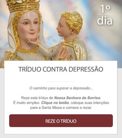 TRÍDUO CONTRA A DEPRESSÃO. REZE CONOSCO!