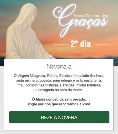 NOVENA A NOSSA SENHORA DAS GRAÇAS: FAÇA OS SEUS PEDIDOS!
