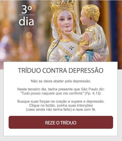 NÃO SE DEIXE ABATER PELA DEPRESSÃO. REZE!