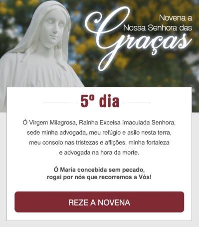 NOVENA A NOSSA SENHORA DAS GRAÇAS: SANTA MARIA, LIVRAI-NOS DE TODO MAL!