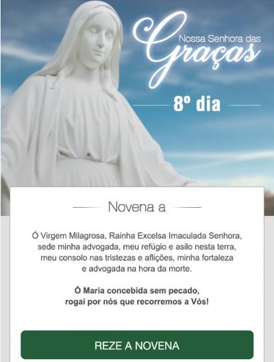 NOVENA A NOSSA SENHORA DAS GRAÇAS: VIRGEM MILAGROSA, COBRI-ME COM O VOSSO MANTO!