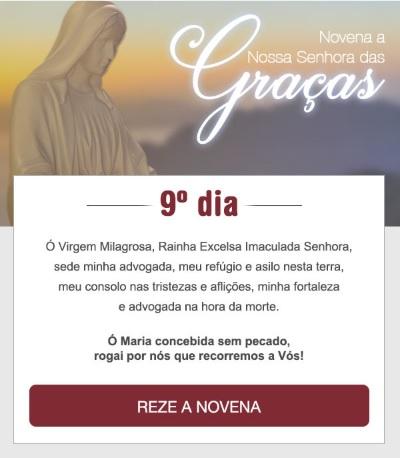NOVENA A NOSSA SENHORA DAS GRAÇAS: MÃE SANTÍSSIMA, CONCEDEI-ME UM MILAGRE!