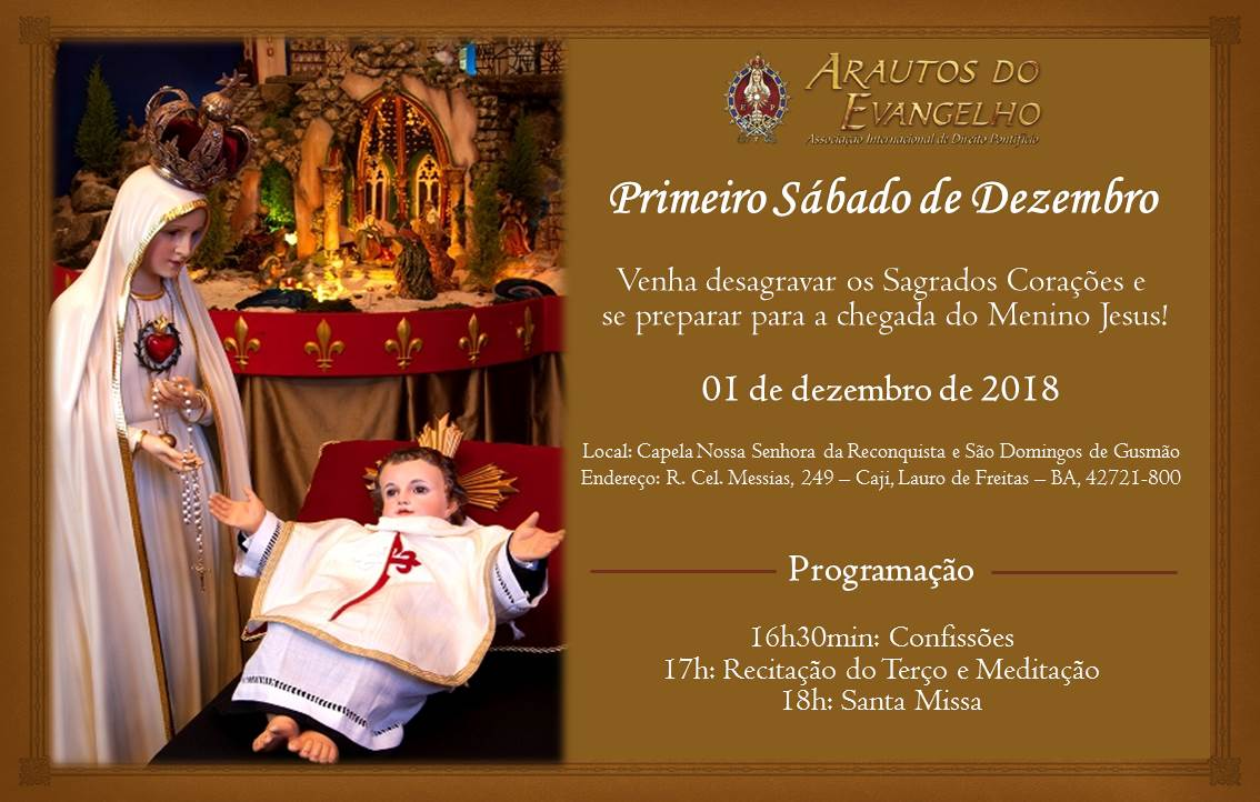 CONVITE: PRIMEIRO SÁBADO DE DEZEMBRO