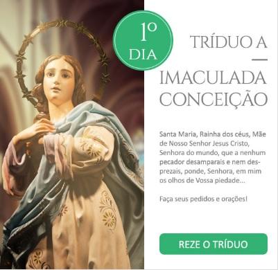 Tríduo a Imaculada Conceição: Reze conosco!