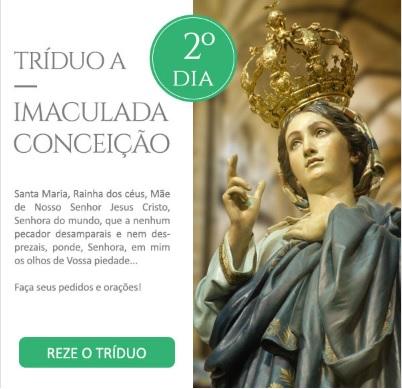 Tríduo a Imaculada Conceição: Refúgio dos pecadores, rogai por nós!