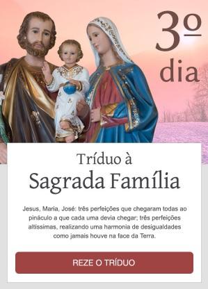 Sagrada Família, abençoai o nosso lar!