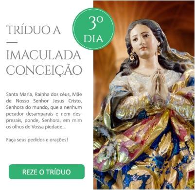 Tríduo a Imaculada Conceição: Virgem Santíssima, lírio de imaculada pureza!