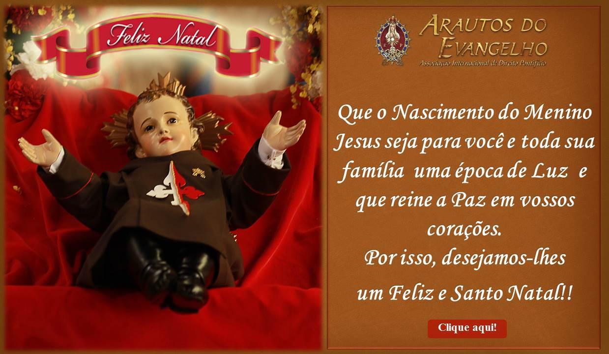 Desejamos um Feliz e Santo Natal!