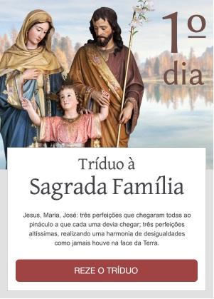 Tríduo à Sagrada Família: Reze conosco!