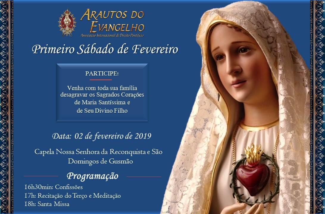 Convite para o Primeiro Sábado: venha renovar a sua Consagração!