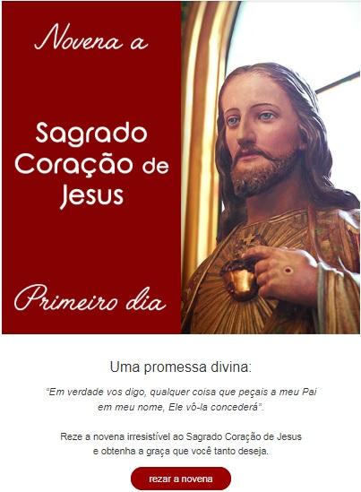 Novena irresistível ao Sagrado Coração de Jesus: reze conosco!