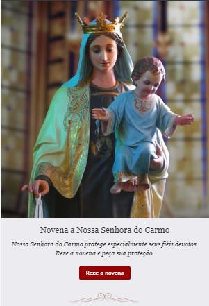 Novena a Nossa Senhora do Carmo: reze conosco!
