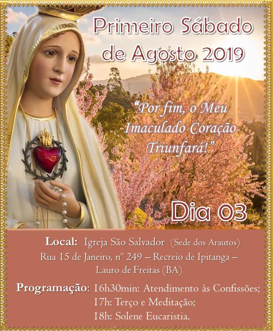 Convite: Primeiro Sábado de Agosto. Participe!