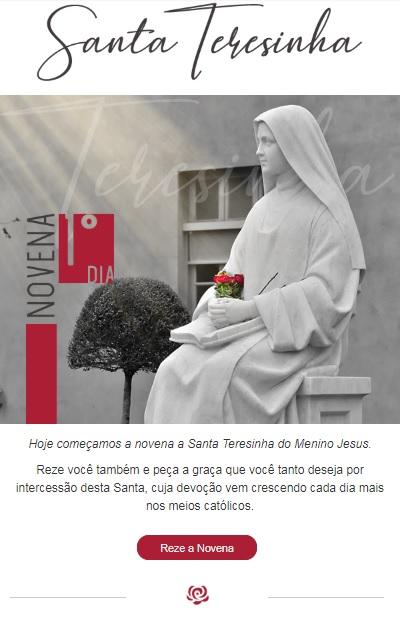 Hoje começa a Novena a Santa Teresinha do Menino Jesus!