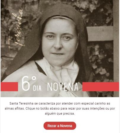 Santa Teresinha nos socorre nas aflições